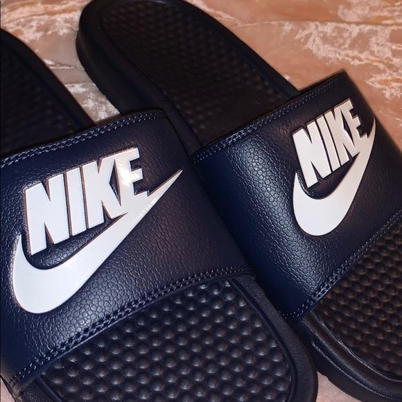 Nike Shoes   Navy Blue Nike Slides